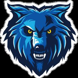 Blue Wolf Logo Mascot Sticker