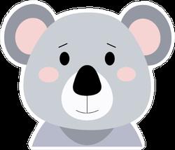 Blushing Cartoon Koala Bear Sticker