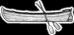 Boat Illustration Ink Line Art Sticker