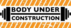 Body Under Construction Workout Sticker