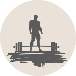 Bodybuilder And Barbell Silhouettes Sticker