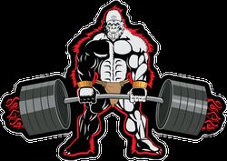 Bodybuilder Ape Sticker