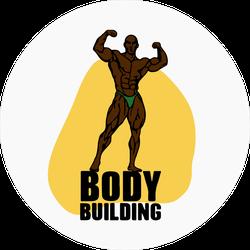 Bodybuilder Muscle Man Fitness Model Sticker