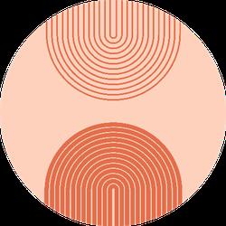Bohemian Line Background Sticker