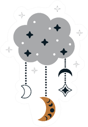 Bohemian Magical Cloud Sticker