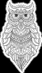 Bohemian Owl Lace Sticker