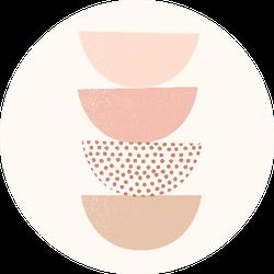 Boho Artistic Shapes Sticker