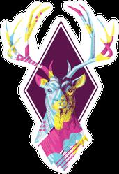 Boho Deer Graphic Sticker