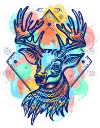 Boho Deer Sticker
