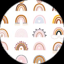 Boho Rainbow Pattern Sticker