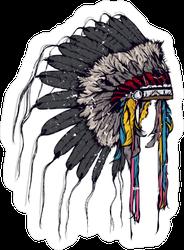 Boho Style Indian Chief Headdress Sticker