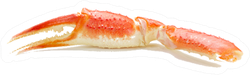 Boiled Crab Claws Sticker