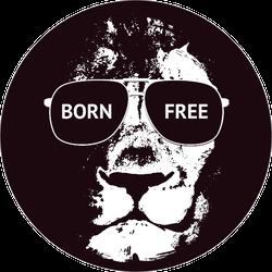Born Free Lion Sticker