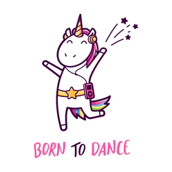 Born To Dance Unicorn Sticker