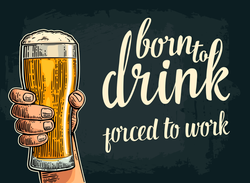Born To Drink Forced To Work Sticker