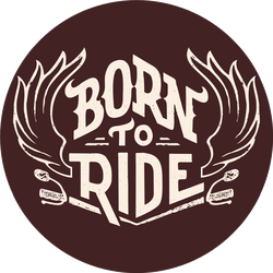 Born To Ride Hand-lettering Sticker