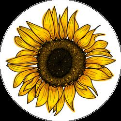 Botanical Sunflower Sticker