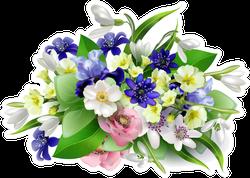 Bouquet Of Spring Flowers Sticker