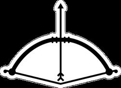 Bow Arrow Icon Archery Sticker