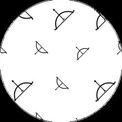 Bow Arrow Icon Seamless Pattern Archery Sticker