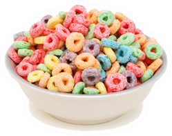 Bowl Of Fruit Loops Cereal Sticker