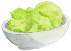 Bowl Of Wasabi Sticker