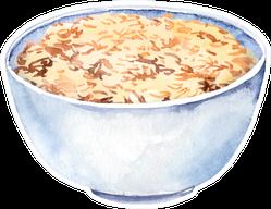 Bowl With Porridge Cereal Illustration Sticker