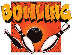 Bowling Ball Crashing Into The Pins Sticker