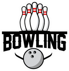 Bowling Club Logo Sticker