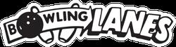 Bowling Lanes Sticker