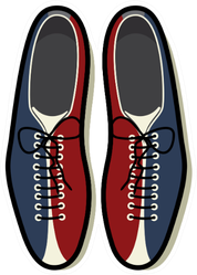 Bowling Shoes Icon Sticker
