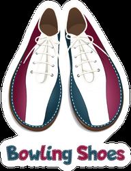 Bowling Shoes Sticker