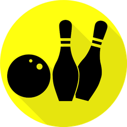 Bowling Sign Illustration Sticker