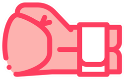Boxing Glove Fist Icon Sticker