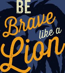 Brave Like A Lion Motivational Sticker