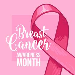 Breast Cancer Awareness Month Banner Sticker