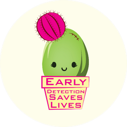 Breast Cancer Cactus Support Awareness Sticker