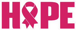 Breast Cancer Ribbon Hope Sticker