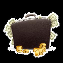 Briefcase Full of Money Sticker
