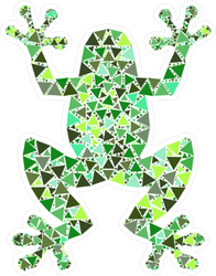 Bright Colorful Mosaic Frog Sticker