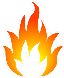 Bright Glowing Fire Sticker