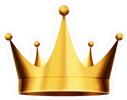 Bright Gold Crown Sticker