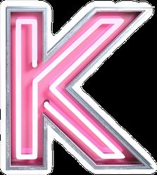 Bright Neon Font Letter K Sticker
