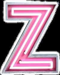 Bright Neon Font Letter Z Sticker