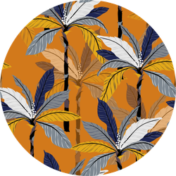 Bright Tropical Jungle And Colorful Palm Leaves Pattern Sticker