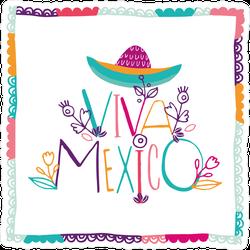 Bright Typographic Viva Mexico Sticker