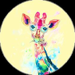 Bright Watercolor Giraffe Sticker