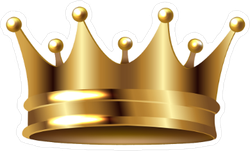 Brightly Shining Gold Crown Sticker