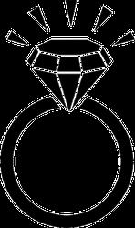 Brilliant Diamond Ring Sticker