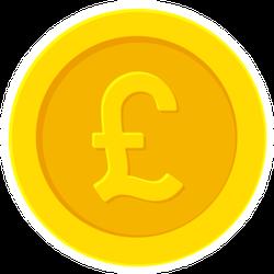 British Pound Gold Coin Sticker